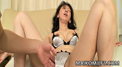 Creampie inside, Japanese mature, Asian milf