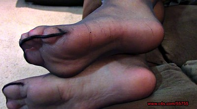 Nylon feet, Bbw feet, Pantyhose feet, Black bbw