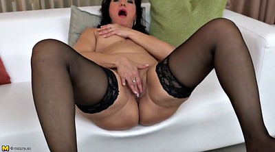 Big clit, Horny mom, Her mom, Mature lingerie, Amateur mom