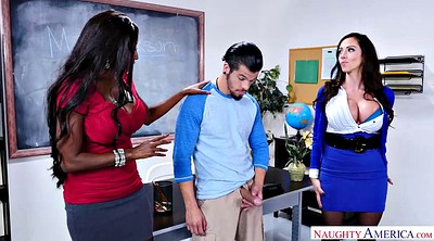 Pantyhose, School, Teacher, Pantyhose fuck, Latina milf