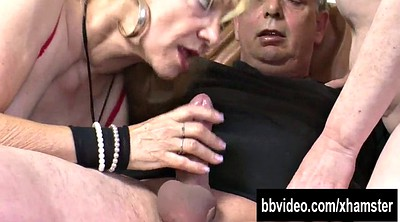 Fat, German threesome, Mature couple
