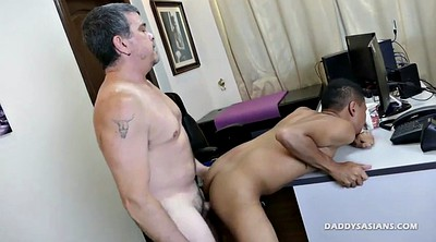 Daddy, Old gay, Asian old, Secretary, Office asian