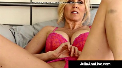 Julia ann, Julia, Stockings, Bra, Stocking milf, Pantyhose mature