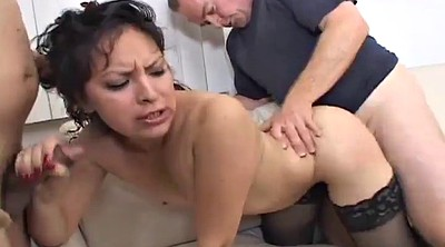 Latina doggy fucking brunette