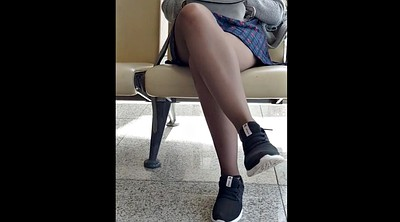Chinese girl, Chinese nylon, Chinese cam, Chinese a, Skirt, Pantyhose chinese