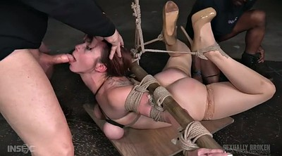 Rope, Missionary, Two cock, Rope bondage
