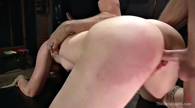 Spank, Tied tits, Tied and fuck, Tied, Rope