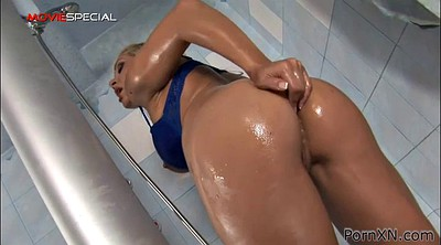 Anal toy, Anal dildo, Shower sex, Shower anal, Anal solo