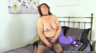Old, Stripped, Nylon fuck, Granny fuck, British granny