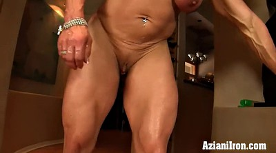 Clit, Big clit, Muscle girl, Mature clit