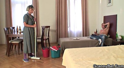Old woman, Wife hard, Cleaning
