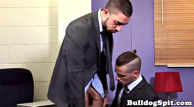 Domination, Bondage blowjob, Anal office, Gay domination