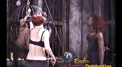 Spank, Mistress, Cage, Mistress t, Two slaves, Femdom cage