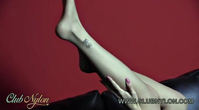 Nylon feet, Tease, Pantyhose feet