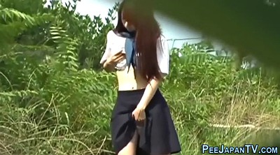 Japanese student, Japanese outdoor, Students, Japanese students, Japanese peeing, Japanese public