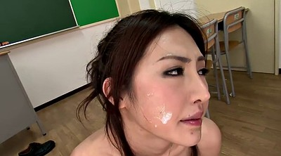 Japanese big tits, On her knees