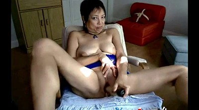 Asian granny, Asian webcam, Granny webcam, Granny dildo masturbation