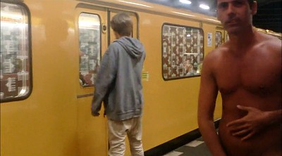 Public naked, Subway, Naked public