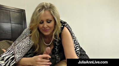 Julia ann, Julia, Mature foot, Mature feet, Footing, Hand