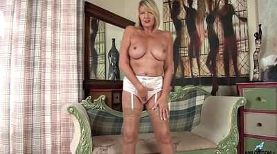 Amy, First, English, British granny, Big tits masturbation