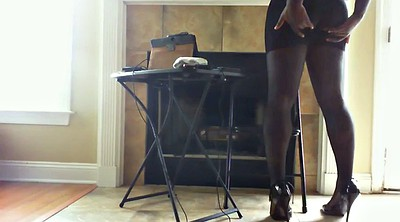 Pantyhose feet, Black pantyhose