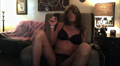 Crossdress, Smoking, Gay dildo