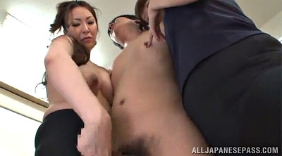 Asian mature, Hand job