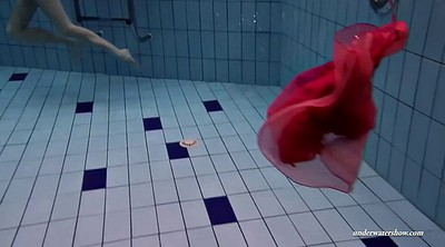 Underwater, Hot body, Red dress, Hot lady, Dress solo