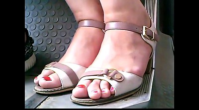 Bus, Candid, Closeup, Mature feet, Mature candid, Candid foot