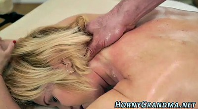 Oil massage, Grandmas anal