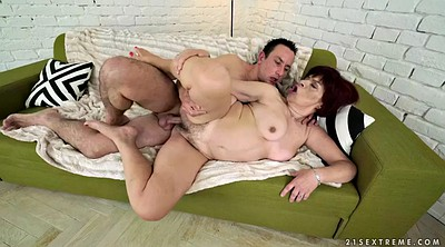 Mature, Chubby mature, Licking hairy pussy