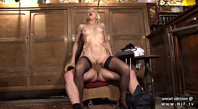 Cum in mouth, French mature
