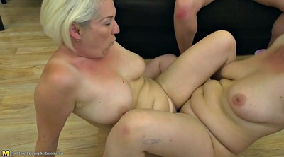 Mature, Young girl, Lesbian mom