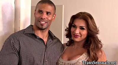 Shemale ass, Interracial threesome
