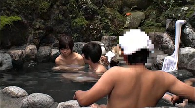 Japanese public, Japanese handjob, Asian group