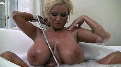 Czech, Bathing, Buxom, Juggs, Bubble bath, Bubble