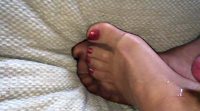 Nylon, Cum on feet, Nylon feet, Paint, Gay feet