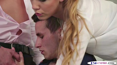Office anal, Gay threesome