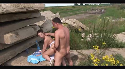 Nipple fuck, Panties fucked, Sun, Outdoor panties, Nipples fuck