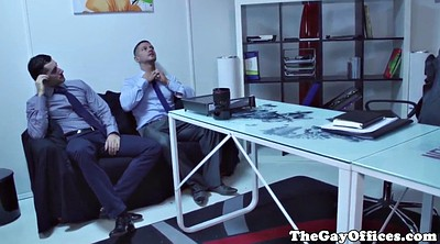 Office gay, Eating, Gay ass