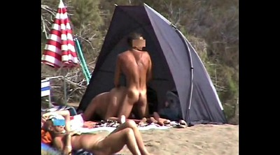 Nudist, Voyeur beach couple, Nudist beach