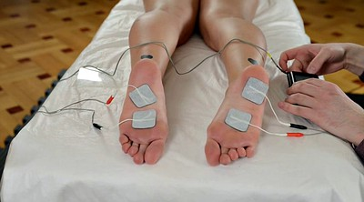 Old, Electro, Torture, Young foot, Foot torture, Electro torture