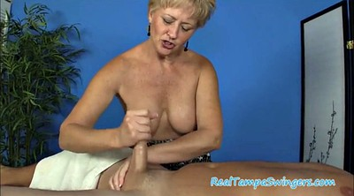 Mature swinger, Hand job, Mature massage