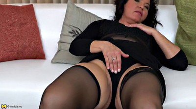 Mom, Big clit, Mature mom, Horny mom