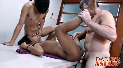 Gay daddy, Asian daddy, Office sex, Office asian