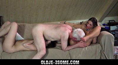 Deep throat, Young group, Old grandpa, Granny group, Granny blowjob