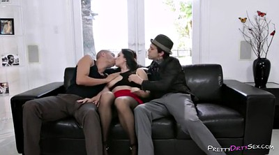 Rough anal, Anal threesome