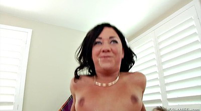 Hairy anal, Bouncing tits, Anal brunette