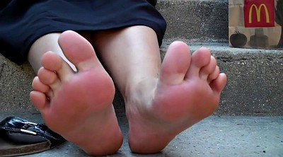 Outdoor, Foot fetish, Girl feet