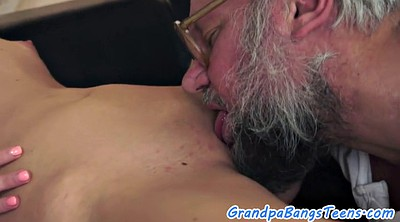 Granny, Young and old, Creampie granny